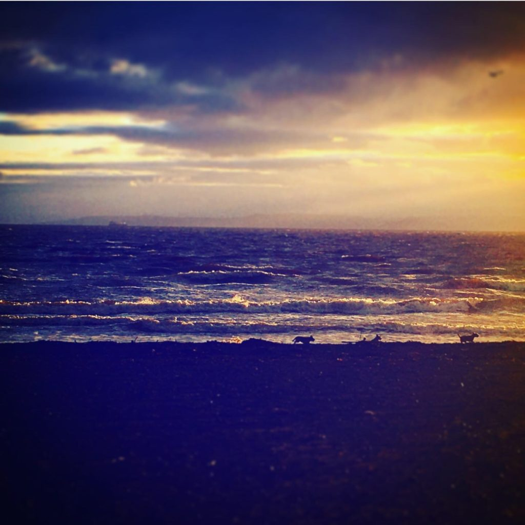 sunset-prestwick-beach-ayrshire