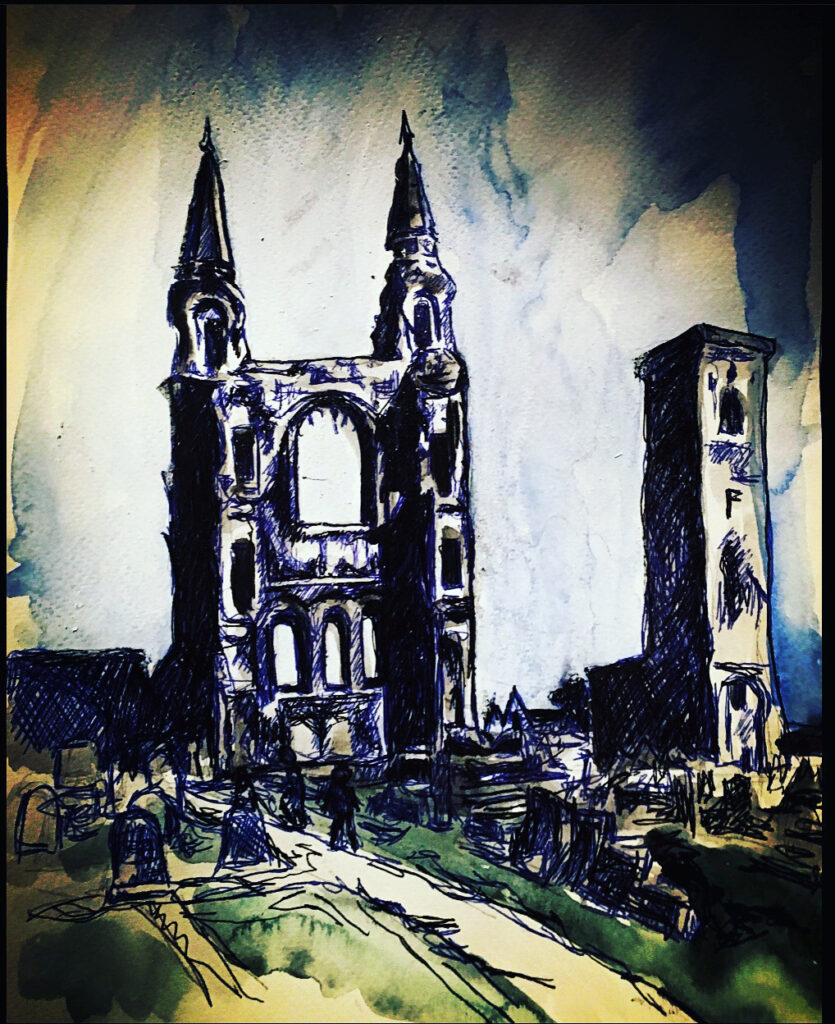 st-andews-cathedral-doodle-sketch