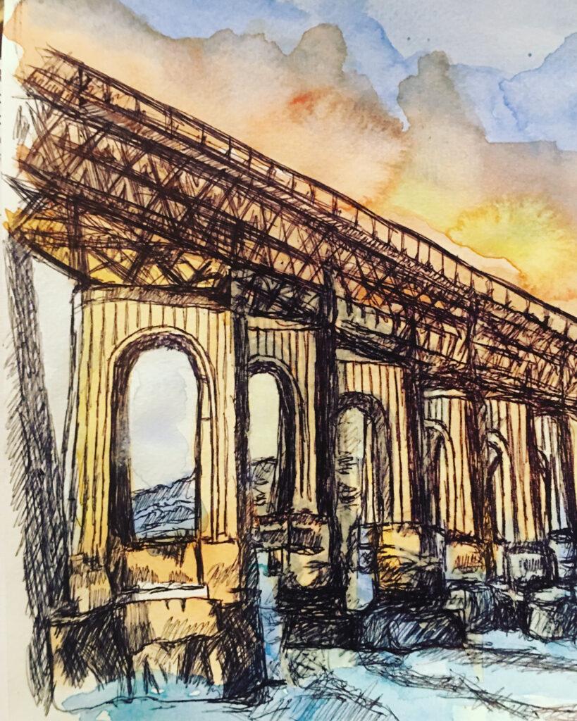 sketch-tay-bridge-dundee-by-jane-meighan